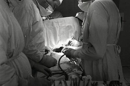 Rok 1954: Ľudské srdce v rukách slovenského chirurga Pavla Šteinera