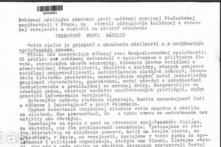 Rok 1989: Revolučné novembrové dni v slovenských médiách