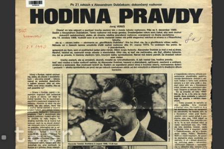 A.Dubček v českolovenskej tlači po roku 1989