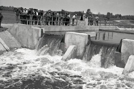 Rok 1964:  Závlahová sústava Šaľa – Kolárovo v skúšobnej prevádzke
