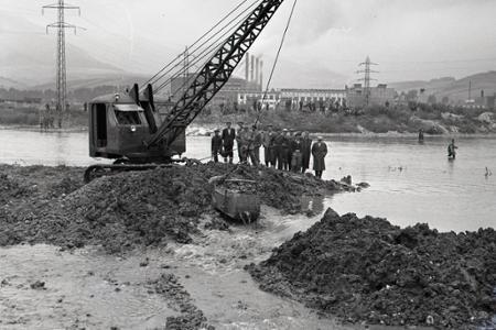 Rok 1956: Rieka Orava v novom koryte
