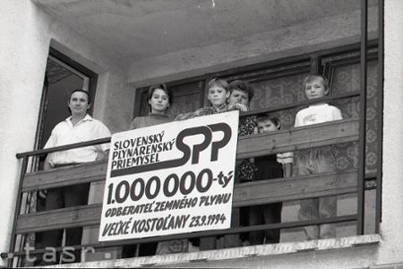 Rok 1994: Miliónty odberateľ plynu na Slovensku