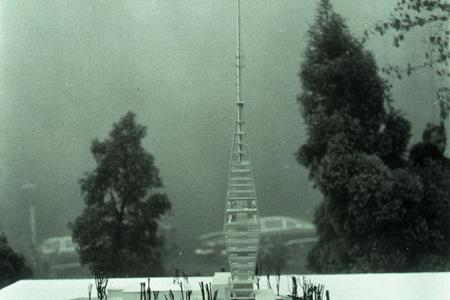 Rok 1967:Základný kameň pre televíznu vežu Bratislava Kamzík