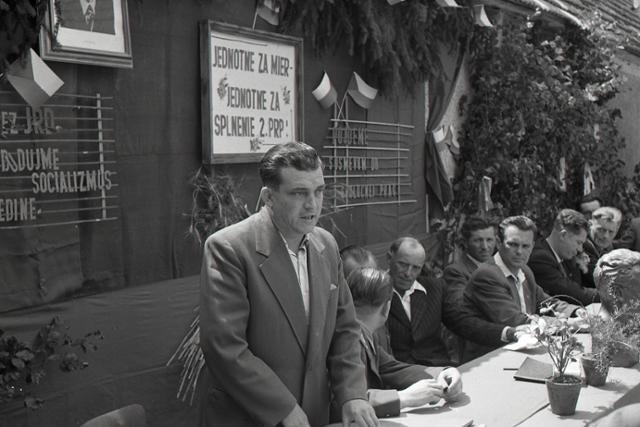 Rok 1957: V okrese Myjava vzniká ďalšie JRD - fotografie - Vtedy