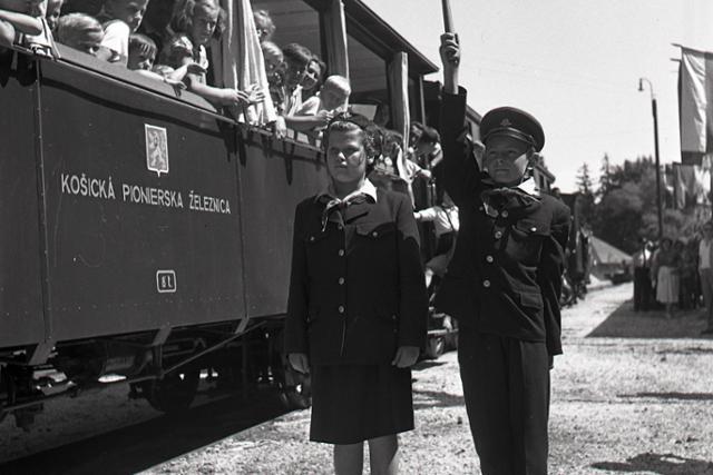 Rok 1955:V Čermeľskom údolí otvorili pioniersku železnicu - fotografie - Vtedy