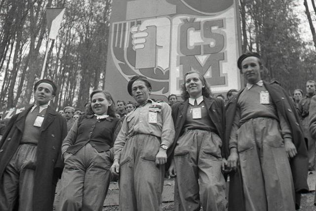 Rok 1949: Slávnostné otvorenie Trate mládeže - fotografie - Vtedy